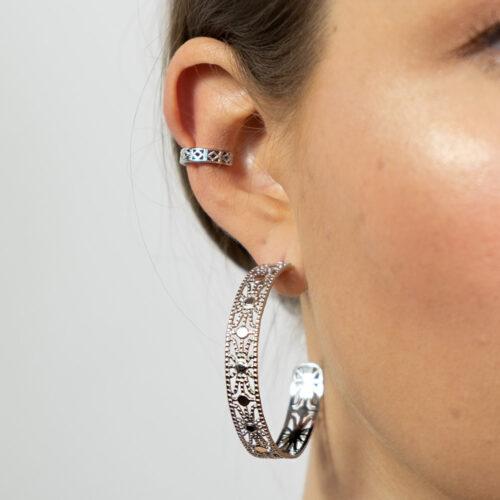 Ear Cuff Oriental Silber