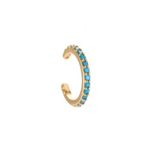 Ear Cuff Blau Gold
