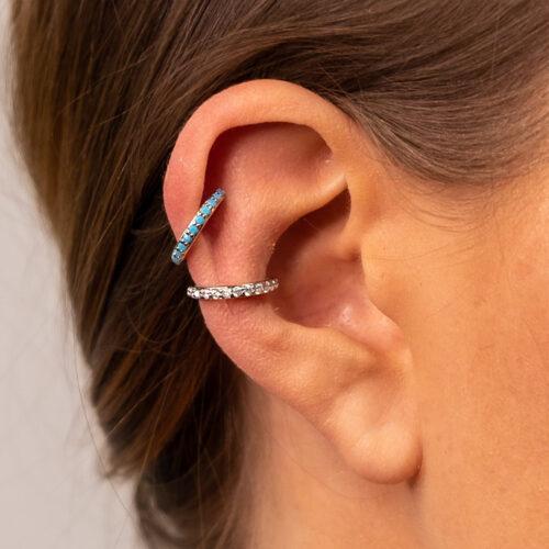 Ear Cuff simple silber