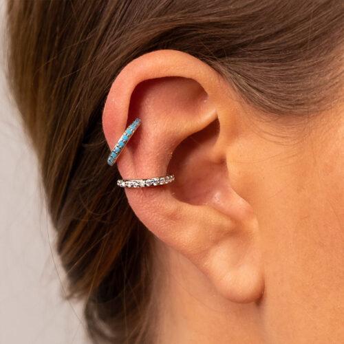 Ear Cuff Simple Silber Basic