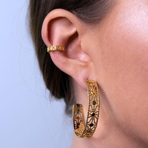 Oriental Ohrring Gold