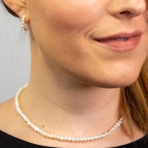 Perlenkette Perlenschmuck Perlenohrring