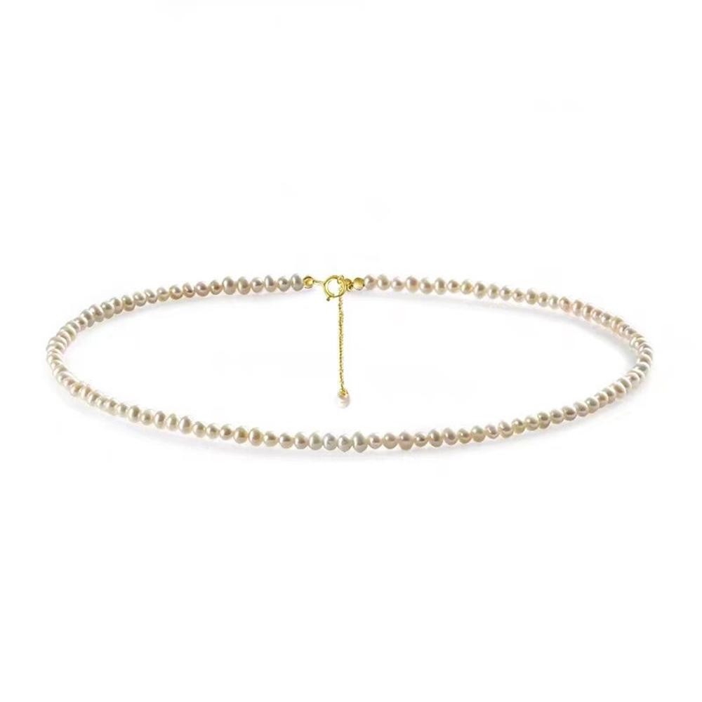 Perlenkette Gold