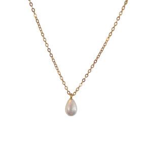 Perlenkette mit einer Perle gold