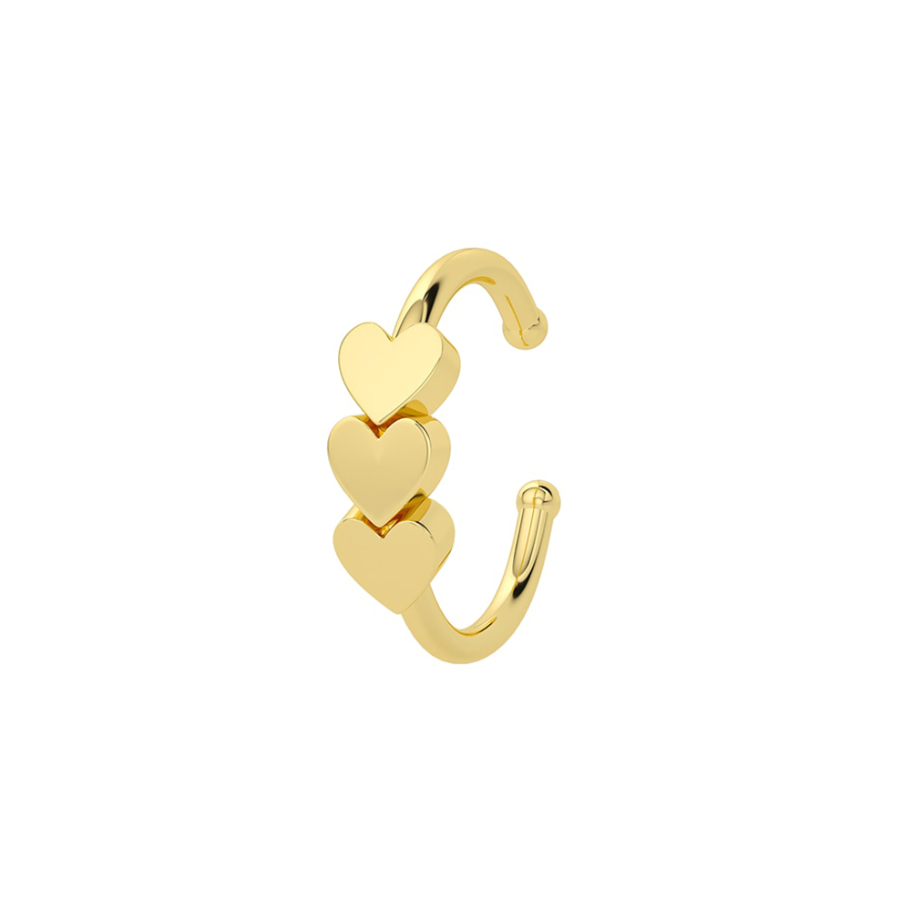 Ear Cuff Herz Gold