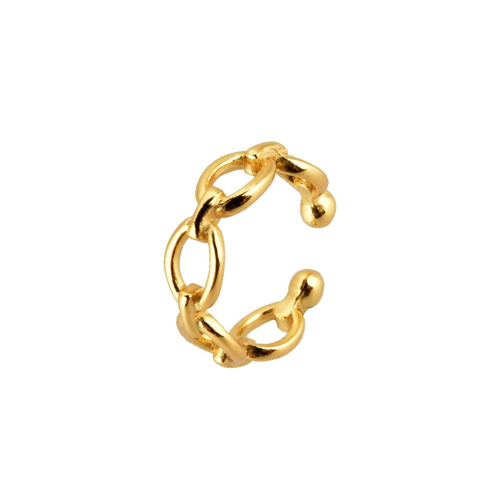 Ear Cuff Kettenglieder Gold
