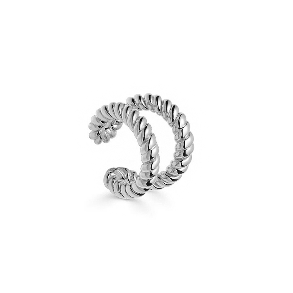 Ear Cuff Double Twisted Silber