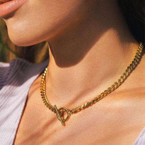 ICRUSH CHUNKY KETTE GOLD
