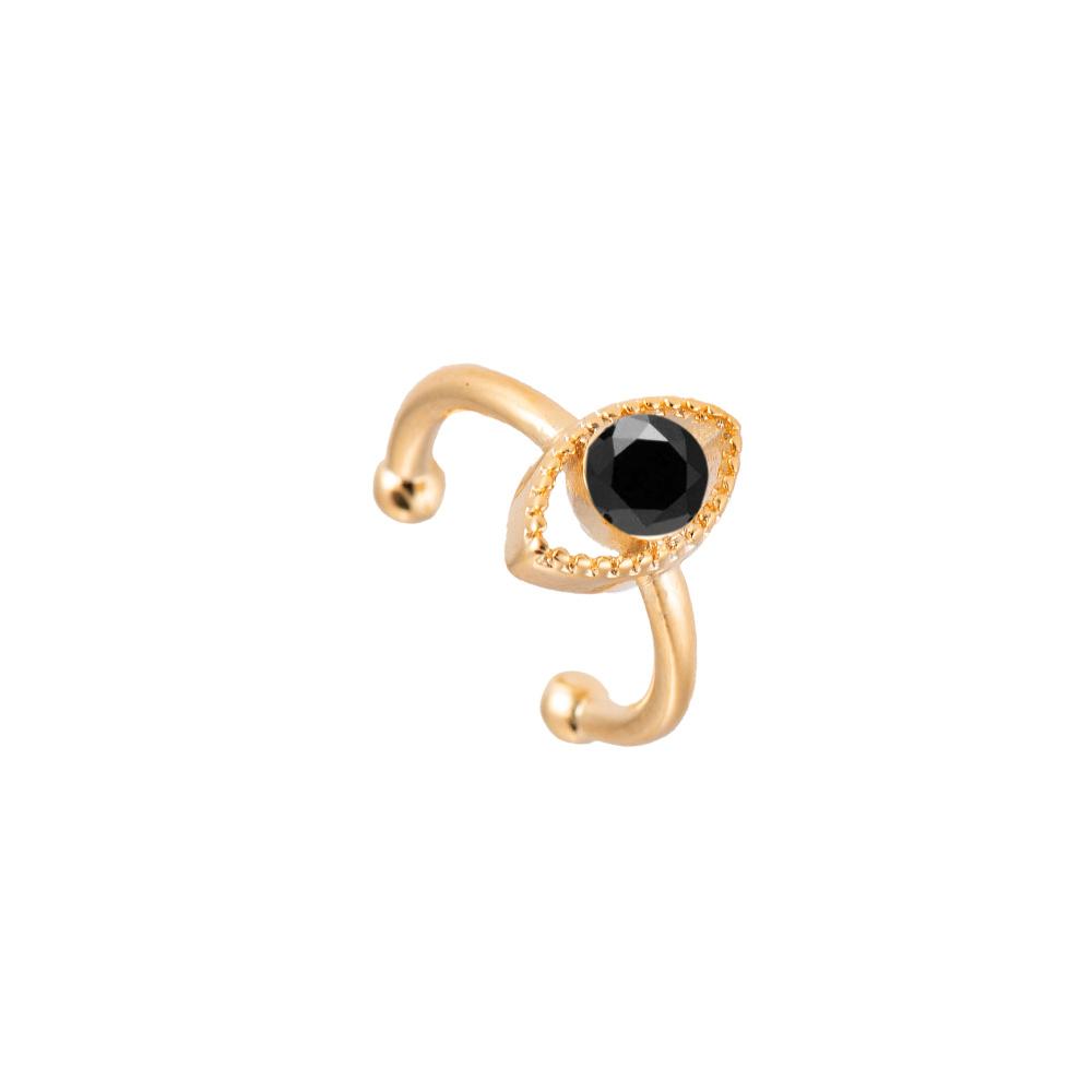 Ear Cuff Ohrclipser Auge Gold Schwarz
