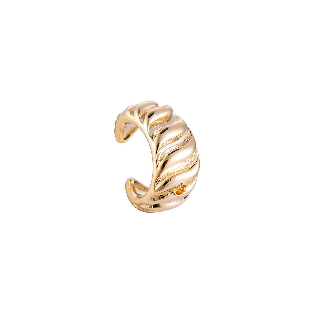 Earcuff Wave gold Ohrclipser gold