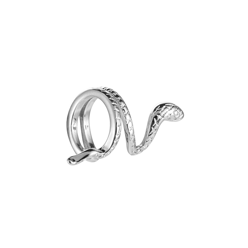 Earcuff Ohrclips Snake Schlange Weißgold Silber