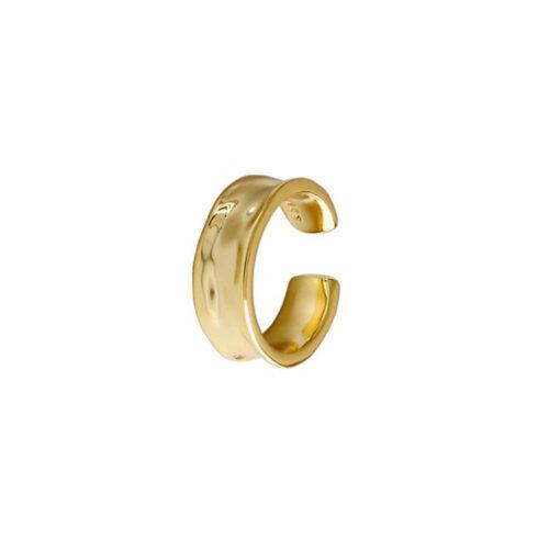 Ear Cuff Tunnel vergoldet echt Silber