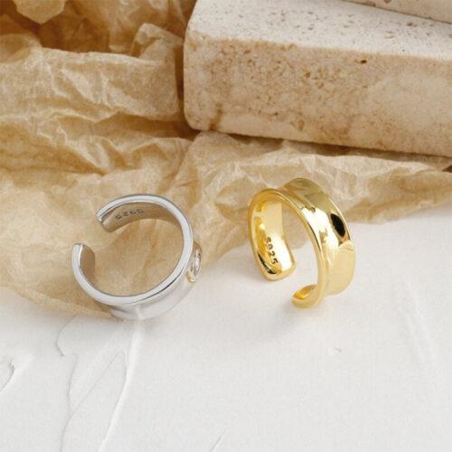 Ear Cuff Tunnel Gold / Silber