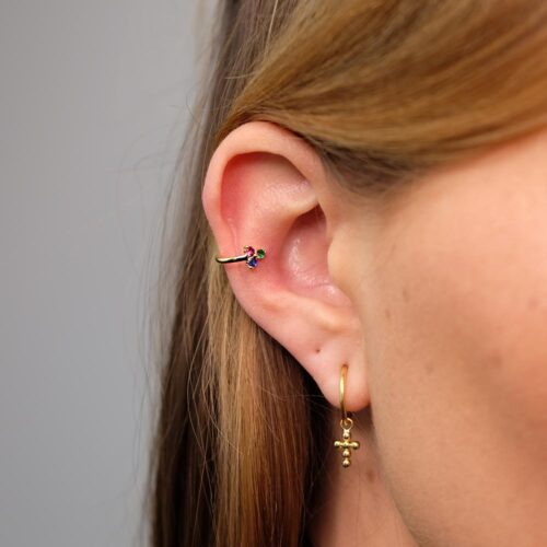 Ear Cuff Bunt Gold modern