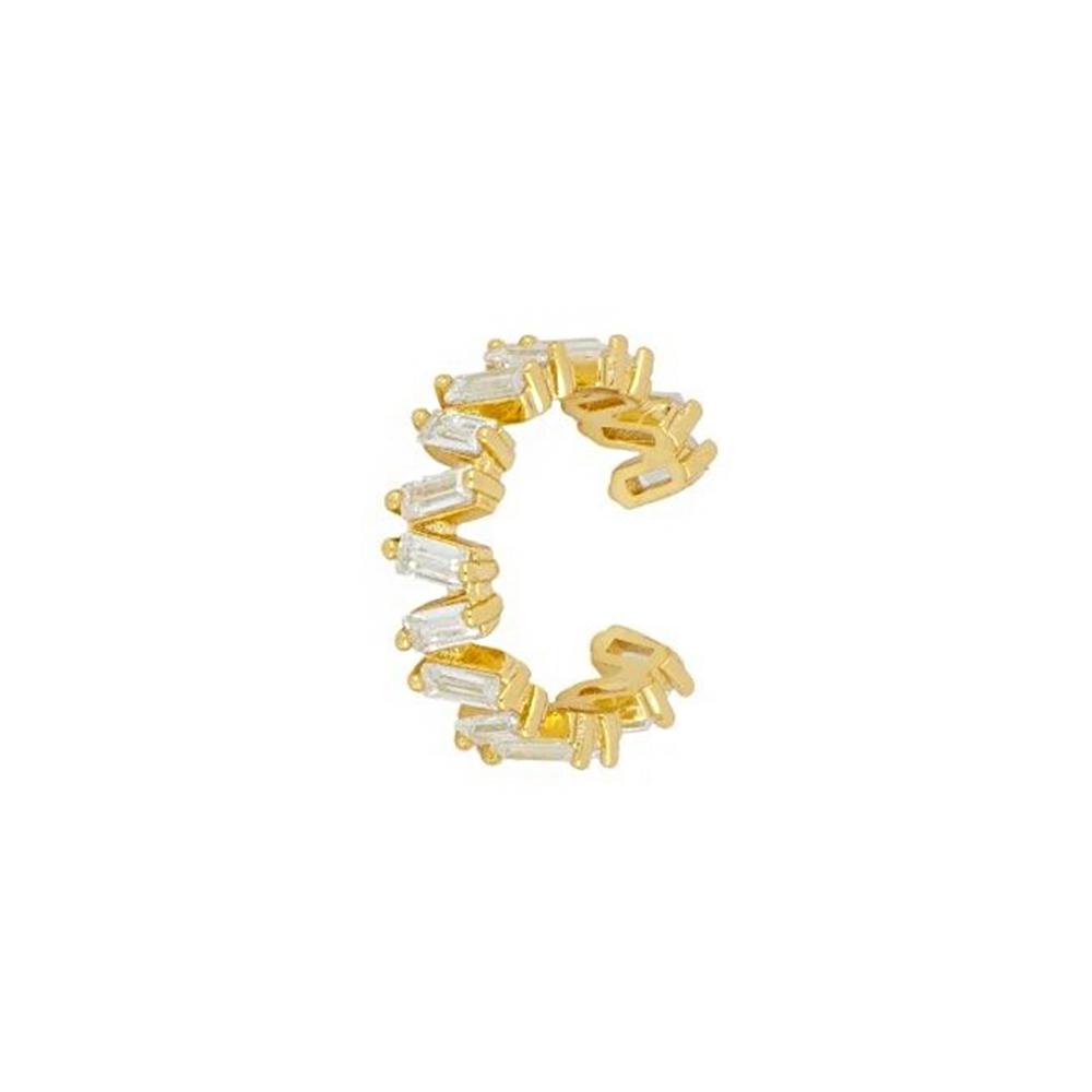 Ear Cuff mit Zirkonia Gold