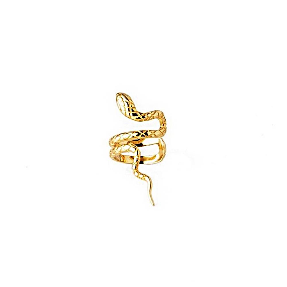 Ear Cuff Ohrklemme Schlang Snake Gold