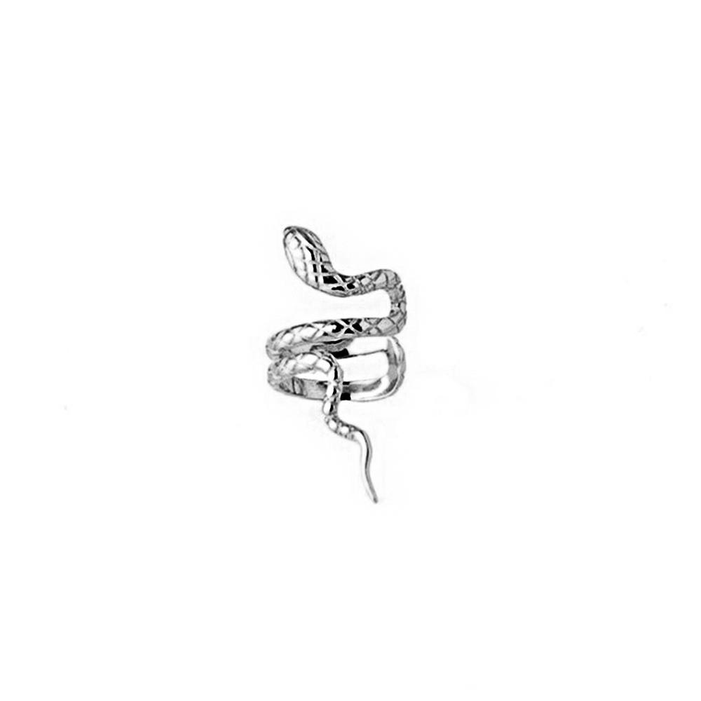 Ear Cuff Ohrklemme Schlang Snake Silber